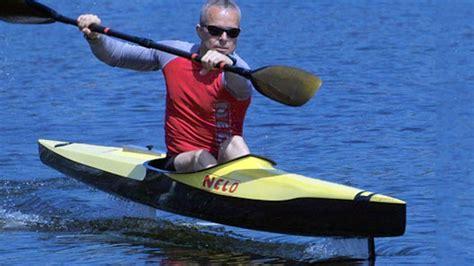hydrofoil behind boat hydrofoil kayak flyak human powered hydrofoil