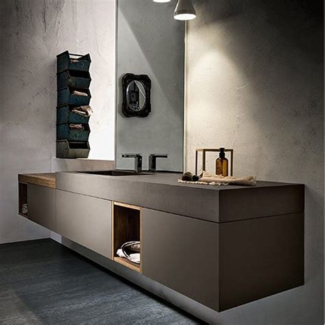 30 In Bathroom Vanity Meuble Salle De Bain Ecocemento Cerasa Play New Meubles