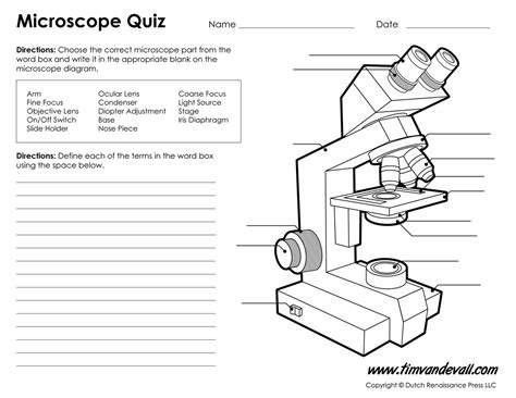 light microscope parts and functions microscope diagram labeled unlabeled and blank parts of