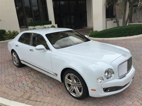 white bentley sedan 2011 bentley mulsanne 4 door sedan white leather