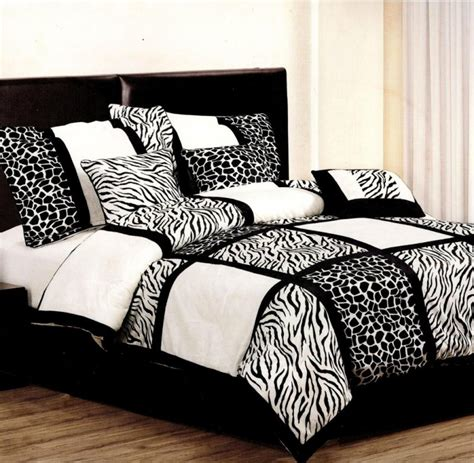 7 pcs safari leopard zebra microfiber bedding comforter