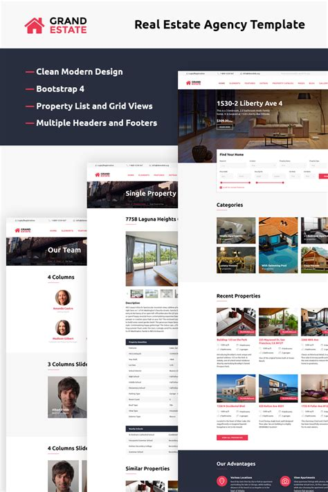 bootstrap themes rental apartment rent bootstrap template
