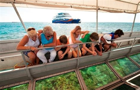 cairns glass bottom boat reef tours great barrier reef tour brand new waterslide free