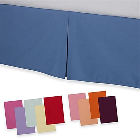 tailored bed skirt smoothweave tailored bed skirt bed bath beyond