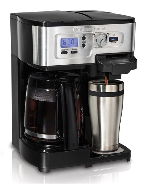 Amazon.com: Hamilton Beach Single Serve Coffee Brewer and Full Pot Coffee Maker, FlexBrew
