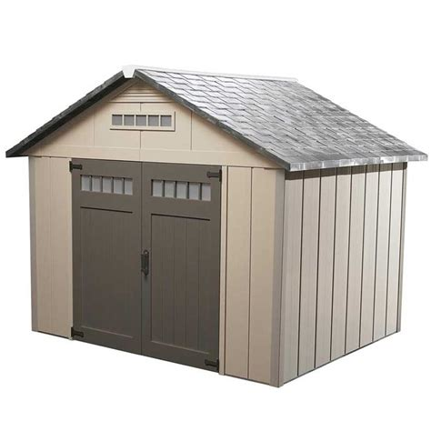 homestyles premier gable storage shed common  ft