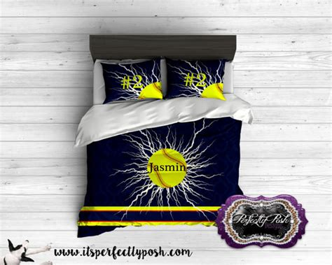 softball comforter softball bedding custom design and personalized comforter or