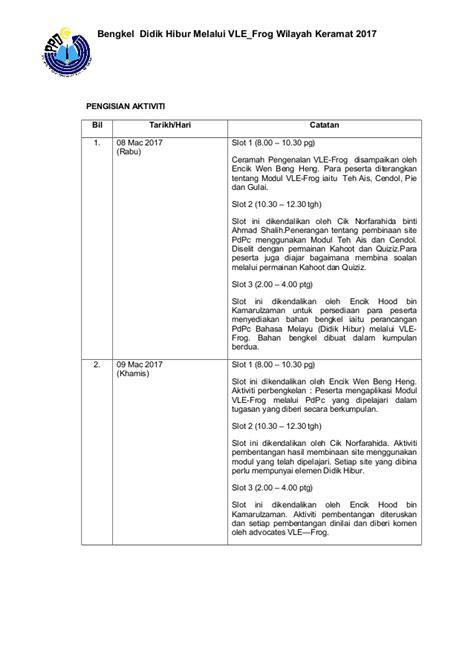 format laporan satpol pp format laporan ringkas aktiviti dan program ppwk didik