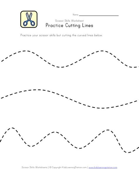 Cutting Worksheets by Scissor Skill Worksheets