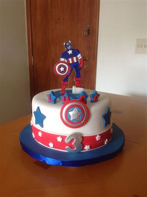 Best Images About Cakes Captain America On Pinterest