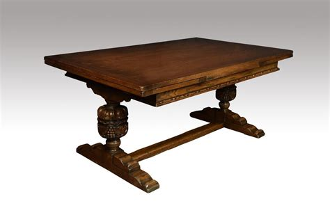 Oak Refectory Dining Table Large Oak Refectory Dining Table Antiques Atlas