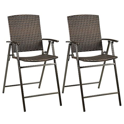 Folding Bar Stools Bed Bath Beyond Stratford Wicker Folding Balcony Chair Set Of 2 Bed Bath Beyond