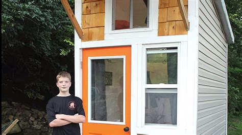 tiny tainy 13 year old builds tiny cabin for 1500
