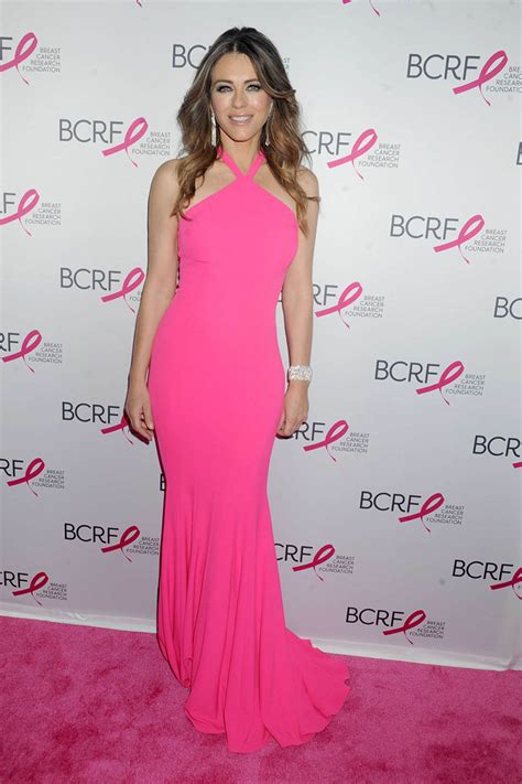 Which Elizabeth Hurley Breast Cancer Pink Frock Is Most Fab by Elizabeth Hurley Pink Halter Mermaid Evening Prom
