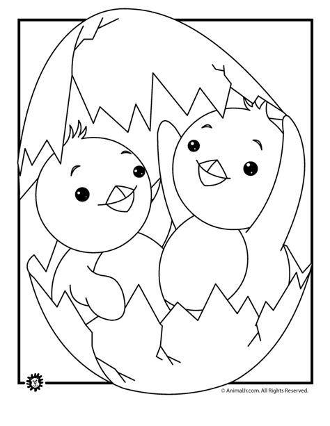 chicken coloring page free printable baby chicken coloring pages coloring home