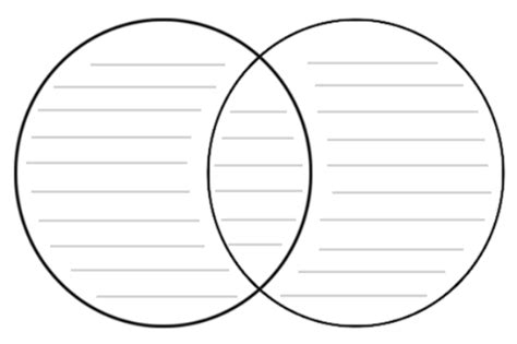 printable venn diagram with lines compare contrast webquest grasshoppers and crickets