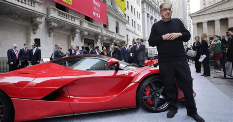 ferrari ceo fiat chrysler s sergio marchionne named ferrari ceo
