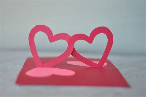 twisting hearts pop up card template how to make pop up cards www imgkid the