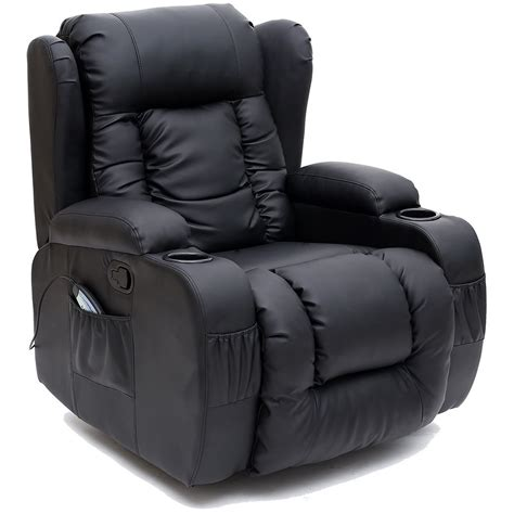 What Is The Best Rocker Recliner To Buy by Caesar 10 In 1 Winged Leather Recliner Chair Rocking