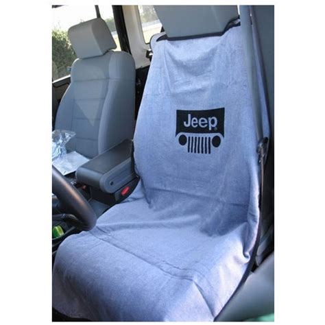jeep seat towel seatarmour sa100jepgg seat towel jeep grille logo gray