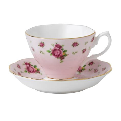 new country roses pink vintage teacup saucer royal albert us