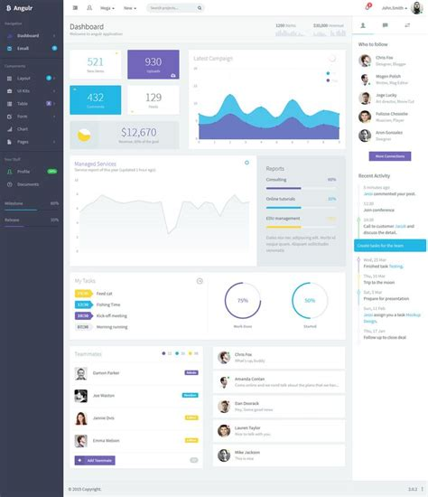 angularjs ui layout angulr bootstrap admin web app with angularjs app ui