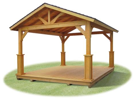 pavillon 2x4 wood and vinyl pavilions pine creek structures