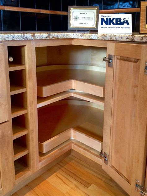 Corner Kitchen Cabinet Super Susan Storage Solution One Kitchen Cabinet Storage Solutions