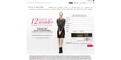Wonder Of The Holidays Sweepstakes - ann taylor 12 days of wonder sweepstakes win 1 of 12 holiday prizes