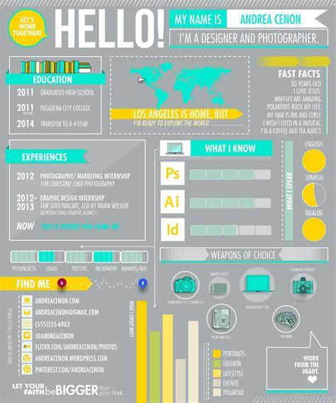 infographic resume design