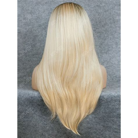 ambra color wigs best seller blonde ombre color long straight synthetic