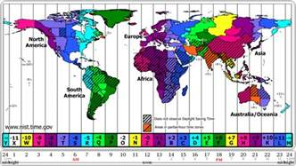Time Zone Map Of The World by 8th Grade Science Class March 2011