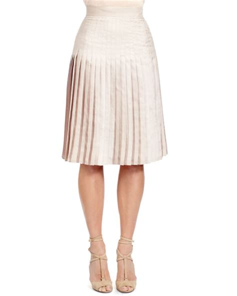 givenchy stitch pleated skirt taupe beige