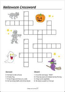 4 best images of halloween easy printable crossword spooky spooky halloween songs for kids maple leaf