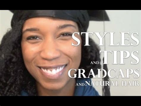 """Easy Graduation Cap Hairstyles and Tips Big Curly """"Natural"""