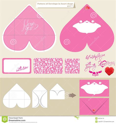 shape template template and scheme of envelope in shape stock