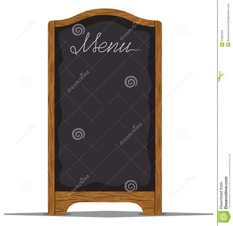 board a menu board outside a restaurant or cafe stock images image 31653754