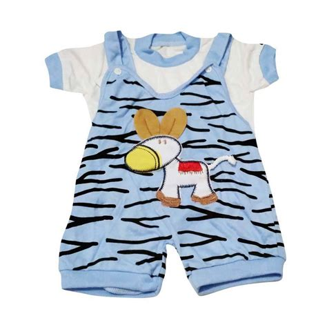 Baju Jumpsuit Baby Jual Baby Tom Zebra Baju Kodok Jumpsuit Anak Biru