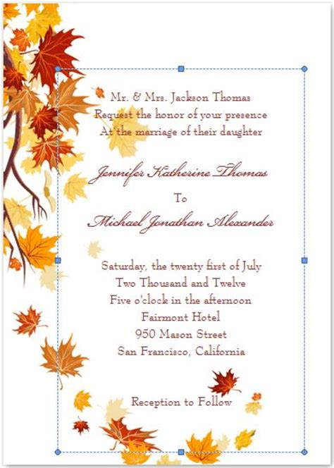 25 Best Ideas About Fall Wedding Invitations On Pinterest Autumn Wedding Themes Country Fall Invitation Templates Free