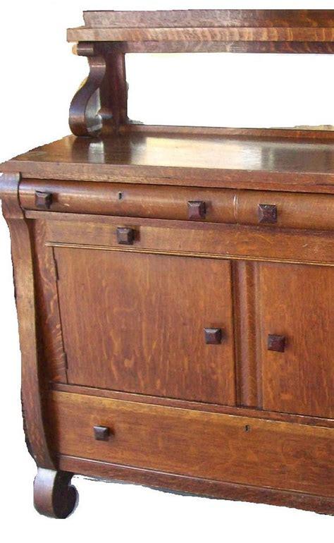 antikes buffet antique tiger oak sideboard buffet mirror shelf by
