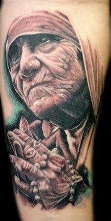 mother theresa portrait tattoo tattoos