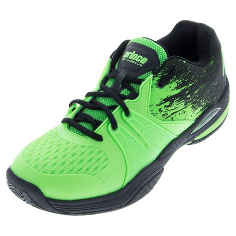 prince s warrior lite tennis shoes green and black