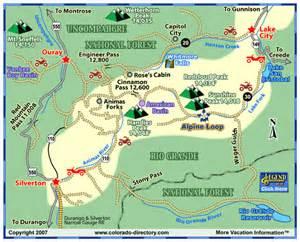 alpine loop colorado map lake city jeeping atv trails map colorado vacation