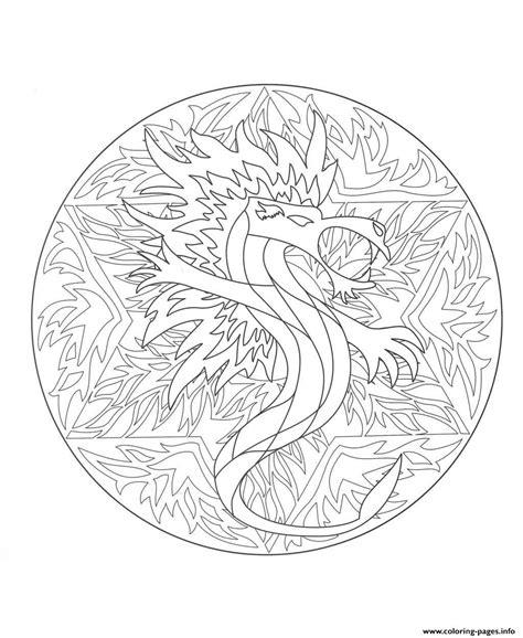 dragon mandala coloring pages mandala dragon 5 coloring pages printable