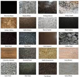 granite color names how to mix granite colours for interior