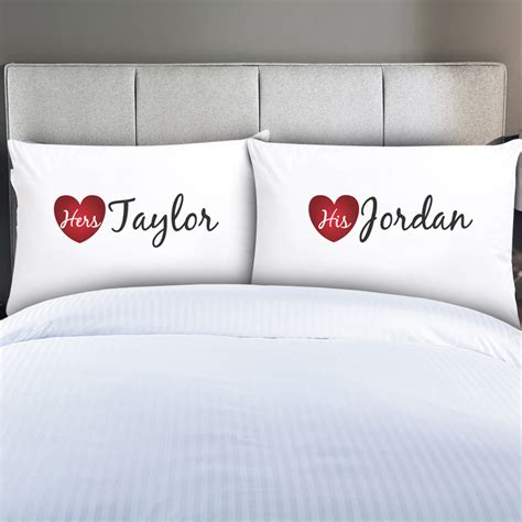 Pillowcases For Pillow by Personalized Couples His Hers Pillow Cases Monogram