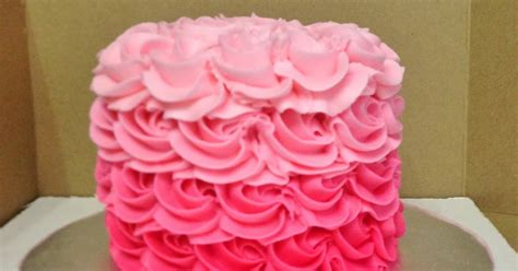 cakes  mindy  pink ombre rosette cake