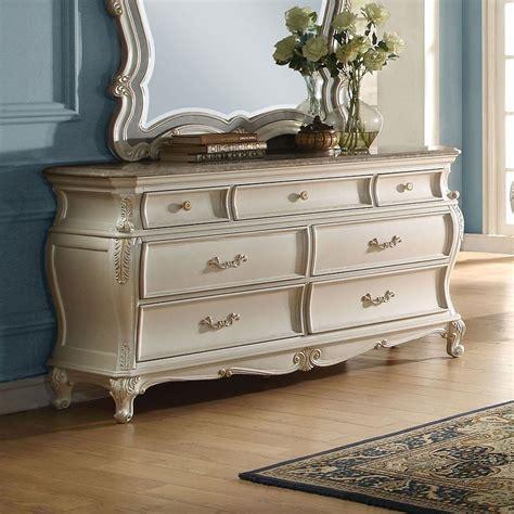 granite top dresser furniture chantelle granite top dresser pearl white dressers
