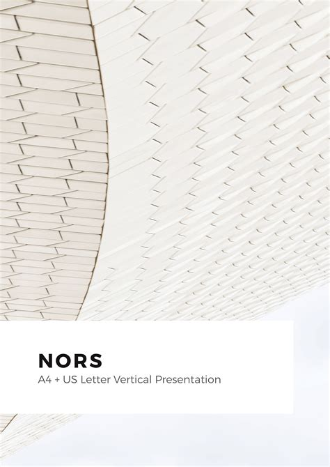 Nors Vertical Powerpoint A4 Us Letter Template By Pixasquare2 Graphicriver A4 Letter Template