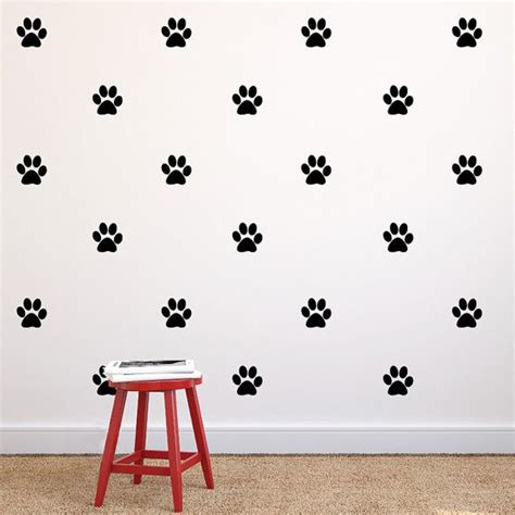 printable removable vinyl stickers paw print repeatable pattern vinyl wall decals dog paw